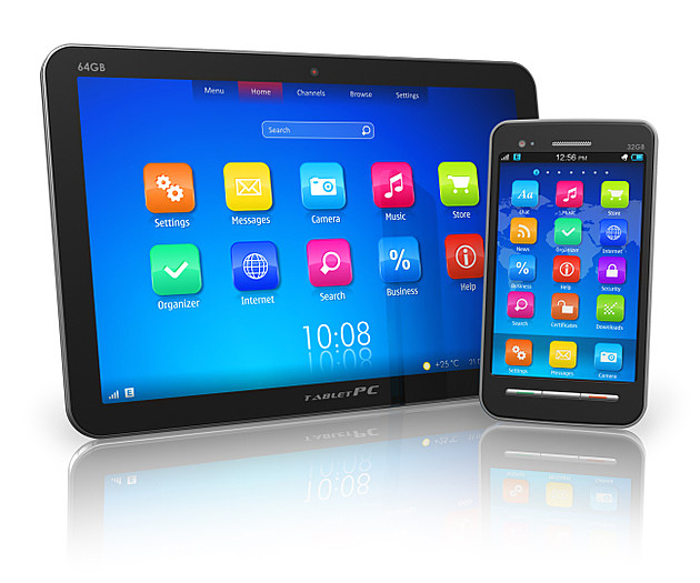 Tablet PC and touchscreen smartphone