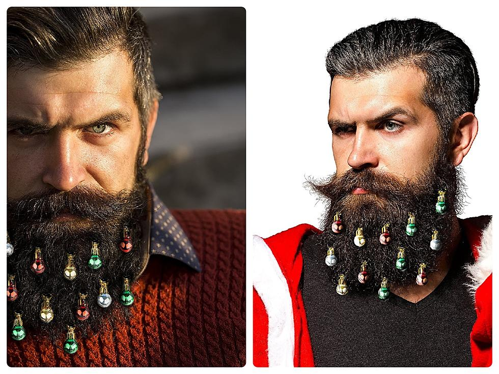 no christmas ornaments for your mans beard is not a good idea - Christmas Beard